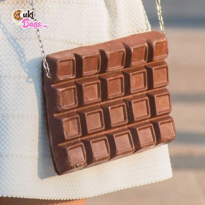 CHOCOLATE TABLET CLUTCH / BAG