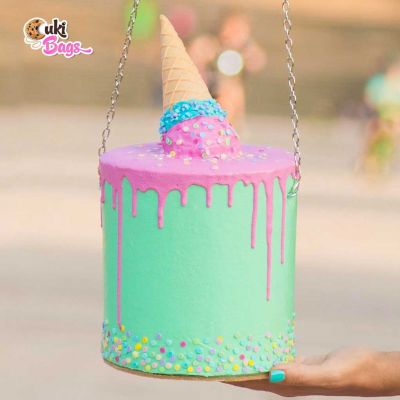 UPSIDE DOWN ICE CREAM CONE CAKE BAG