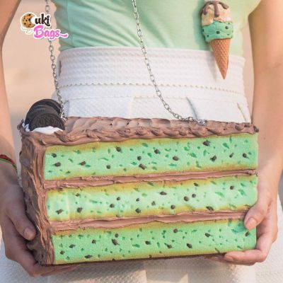 CHOCOLATE MINT PIECE OF CAKE PURSE