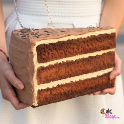 SLICE OF CHOCOLATE - COFFEE CAKE PURSE
