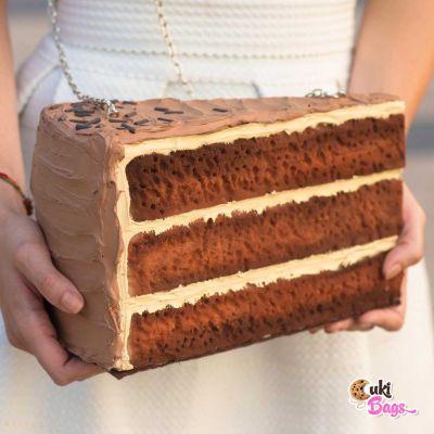 SLICE OF CHOCOLATE - COFFEE CAKE PURSE