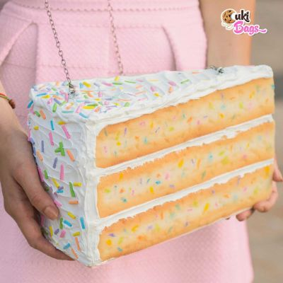 RAINBOW SPRINKLES PIECE OF CAKE PURSE