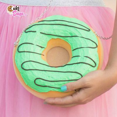 MARBELOSA MINI MINT DONUT CLUTCH / PURSE BAG