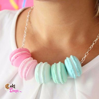 Pastel Macarons necklace