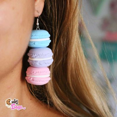 PASTEL TRIPLE XXL MACARONS EARRINGS