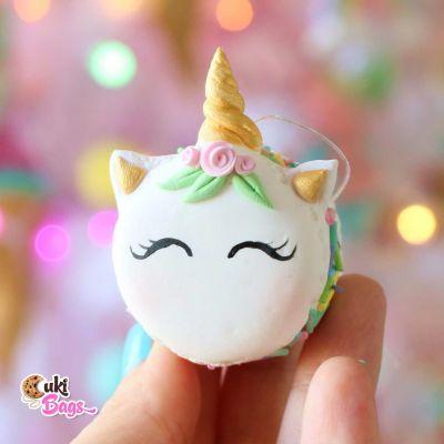 Faux Unicorn Macaron Ornament
