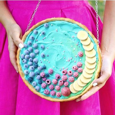 PASTEL FRUIT SMOOTHIE TART PURSE / BAG