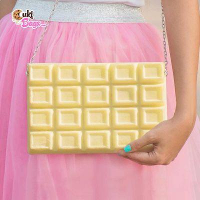 WHITE BELGIAN CHOCOLATE PURSE BAG