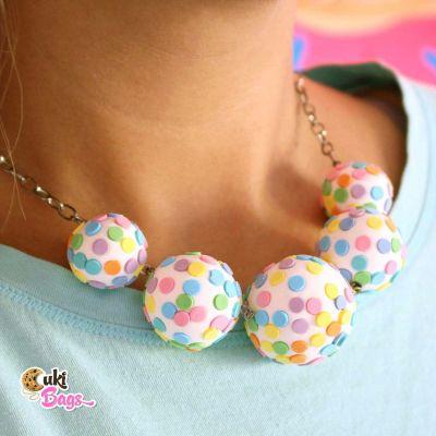 Rainbow Funfetti Cake Pops necklace