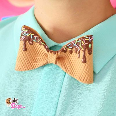 Waffly BOW TIE with chocolate topping and rainbow sprinkles