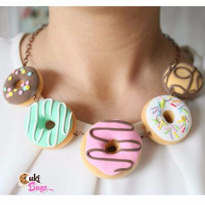 Fatasy Glazed Donuts necklace