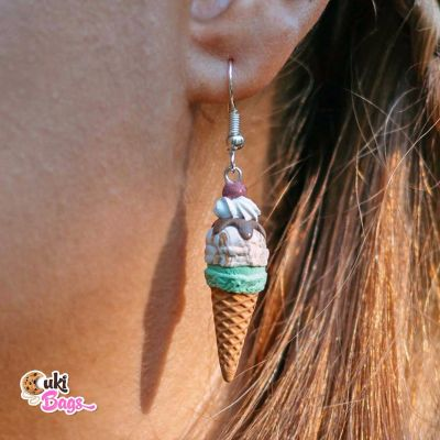 CORNETTO BORNETTO ICE CREAM EARRINGS
