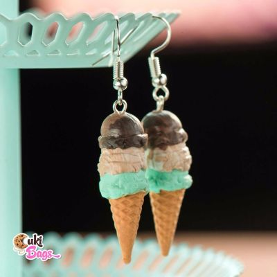 TRIPLE SCOOP ICE CREAM EARRINGS