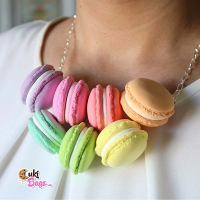 Rainbow Macarons necklace