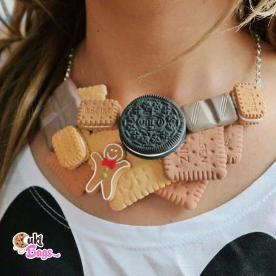 Biscuits, Oreo, Ginger-bread necklace