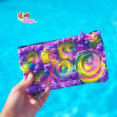 Purple Rainbow Frosting Wallet