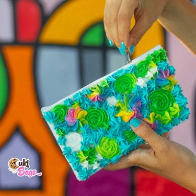 Turquoise Rainbow Frosting Wallet