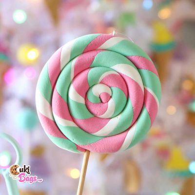 Faux Spiral Lolly Pop - Ornament