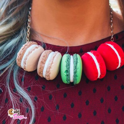 Winter Macarons necklace