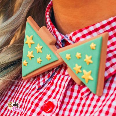 Golden Stars Christmas Tree BOW TIE